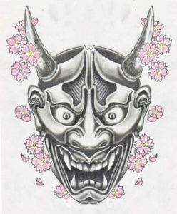 Tatuaje las mascaras japonesas