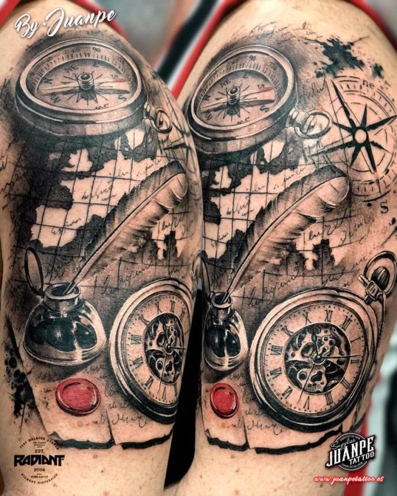 tatuaje brujula
